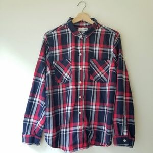 Old Navy Plaid Checked Classic Button Up Flannel